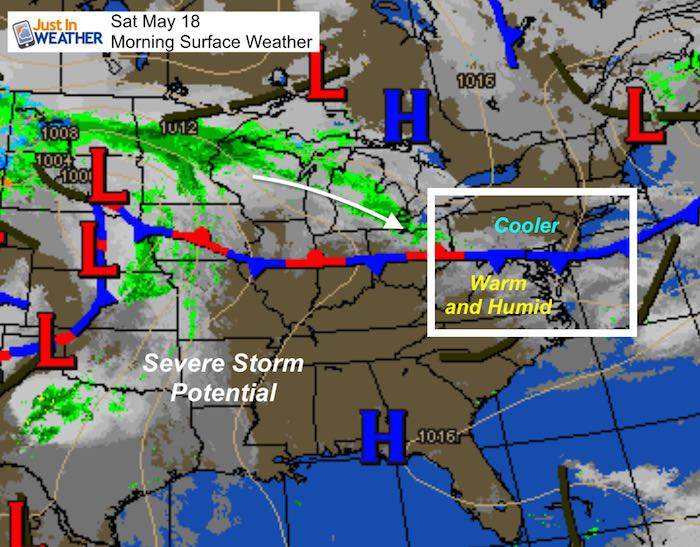 Thinking About Saturday Weather Map >> May 18 Preakness Saturday Weather Summer Heat And Storms Just In