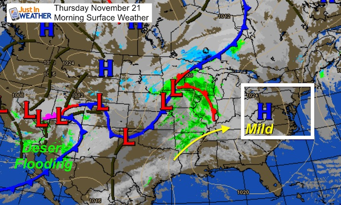 Us Weather Map For This Weekend November 21 Weather Less Wind Today Then Colder Weekend With Some