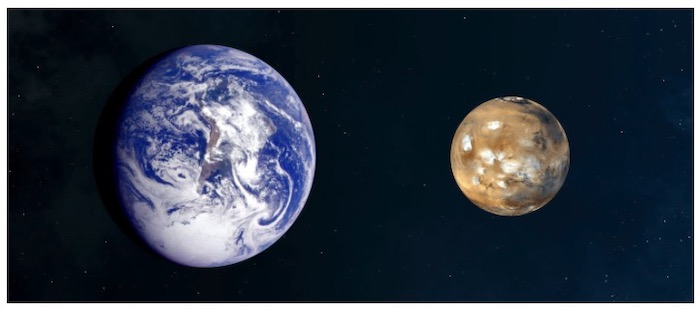 Eartth and Mars side comparison NASA