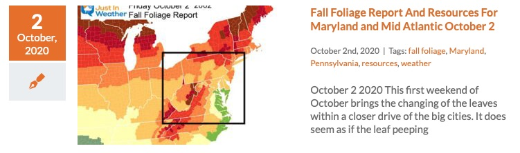 Fall Foliage Report October 2