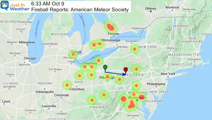 Fireball October 9 B 2020 Heat Map
