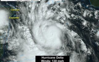 Hurricane Delta Category 4 satellite October 6
