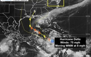 Hurricane Delta Satellite Monday October 5