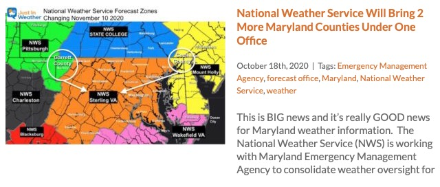 NWS Brings 2 Counties Under Local Office