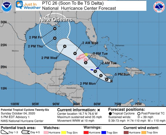 National Hurricane Center Forecast October 4
