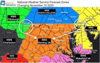 New National Weather Service Forecast Zones Maryland