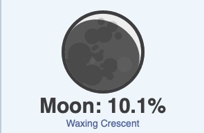 Occtober 19 weather moon phase