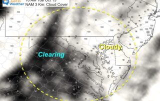 October 1 weather clouds Tuesday 10 AM