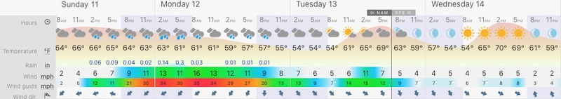 October 11 weather forecast Baltimore