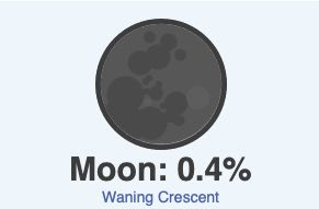 October 16 weather moon phase