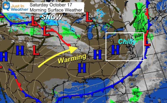 October 17 weather Saturday morning