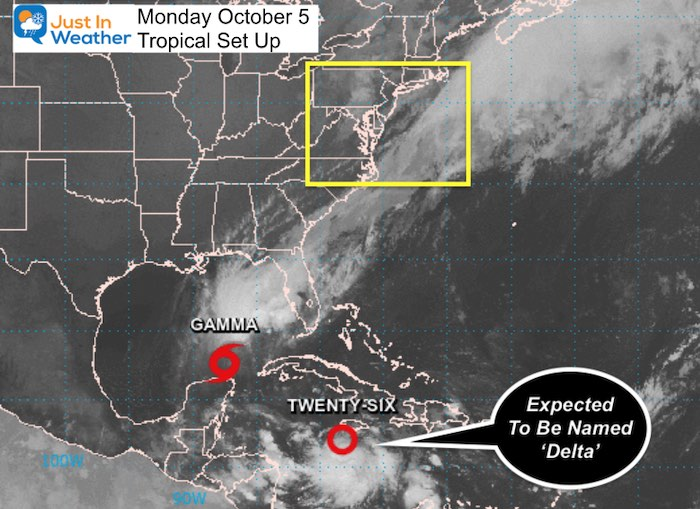 October 5 tropical weather Monday
