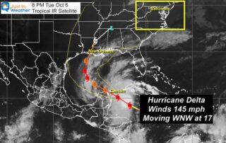 October 6 Hurricane Delta Tuesday Evening Update