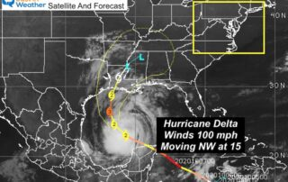 October 8 Hurricane Delta Thursday morning