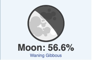 October 9 moon phase