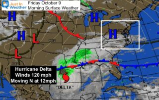 October 9 weather Friday morning