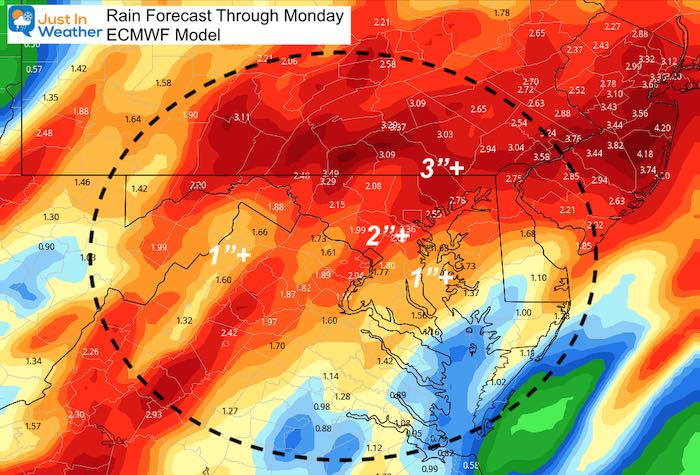October 9 weather rain forecast delta