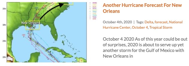 Potential Tropical Storm Delta For New Orleans