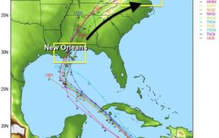 Tropical Models Spaghetti Forecast October 4