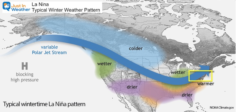 Winter Outlook 2021 La Nina Weather Pattern US