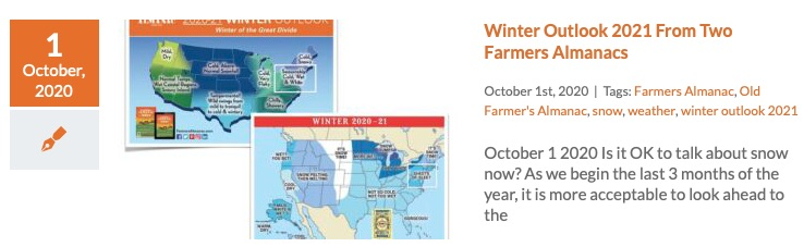 Winter Outlook Farmers Almanacs