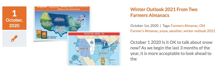 Winter Outlooks Farmers Almanacs