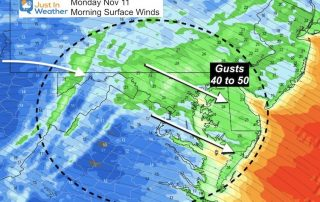 November 1 weather winds Monday
