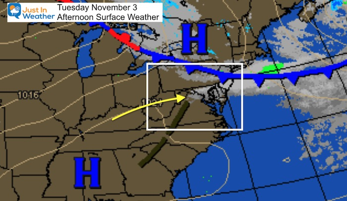 November 3 weather Tuesday afternoon