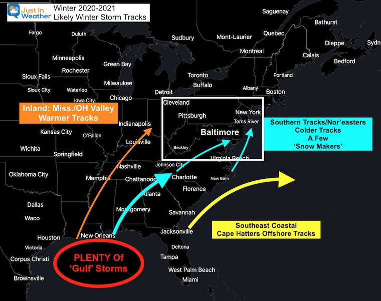Winter 2021 Likely Storm Tracks