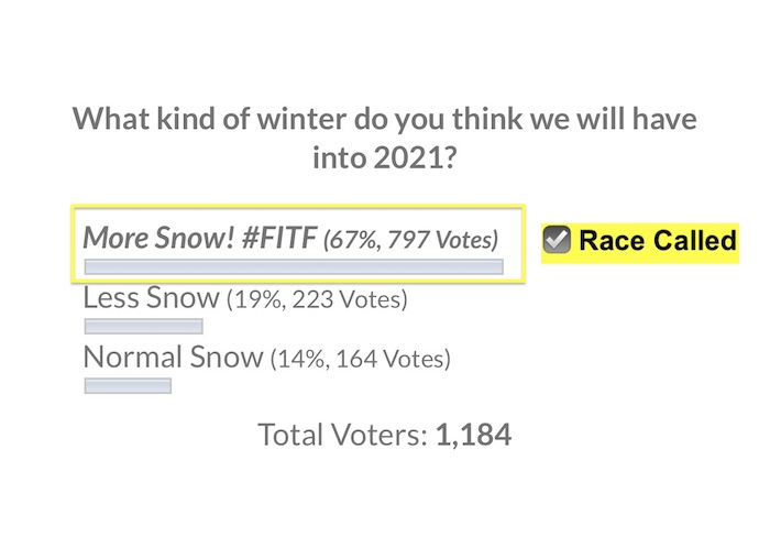 Winter 2021 Snow Poll Results