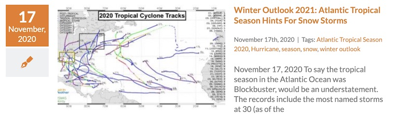 Winter Outlook 2021 Tropical Hints