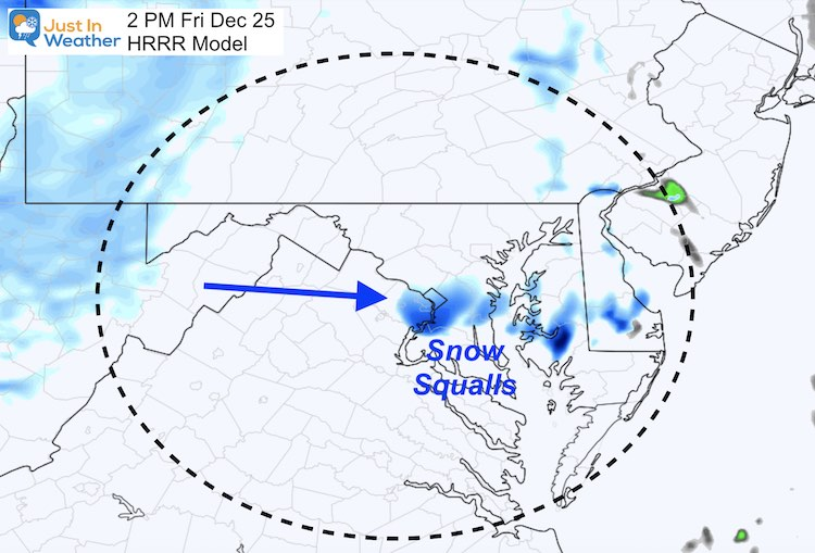 Christmas Day Snow Friday 2 PM