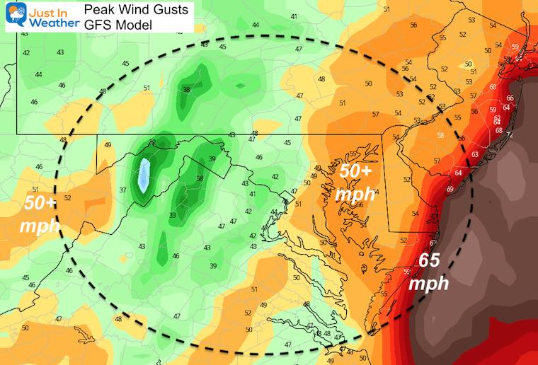 Christmas Storm Top Winds