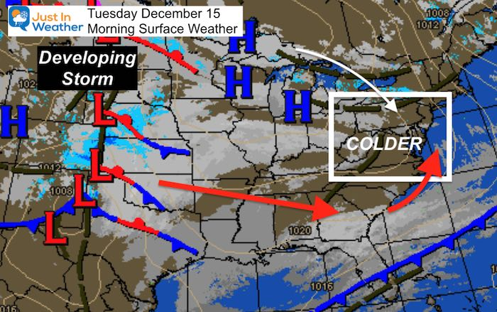 December 15 weather Tuesday morning storm