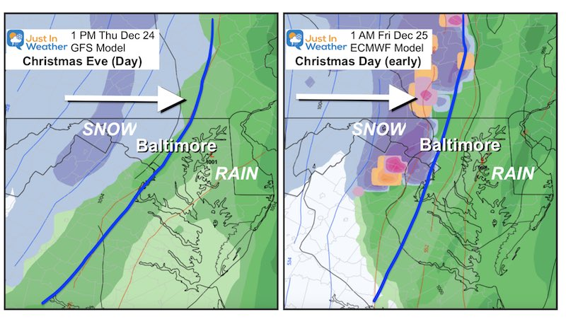 December 20 Christmas Cold Front Snow