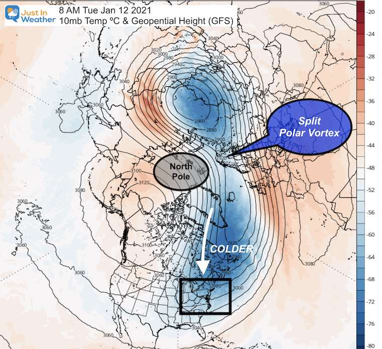 December 27 weather split polar vortex January