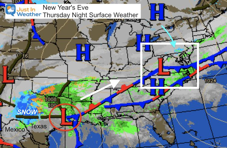 December 31 weather New Years Eve storm map