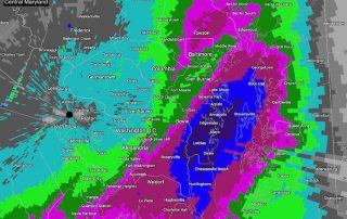 December 5 storm rain totals Central Maryland