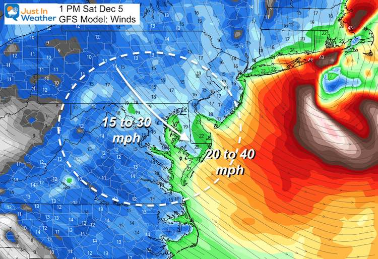 December 5 weather storm winds Saturday