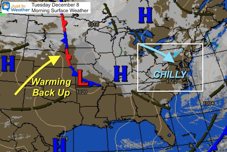 December 8 weather Tuesday morning