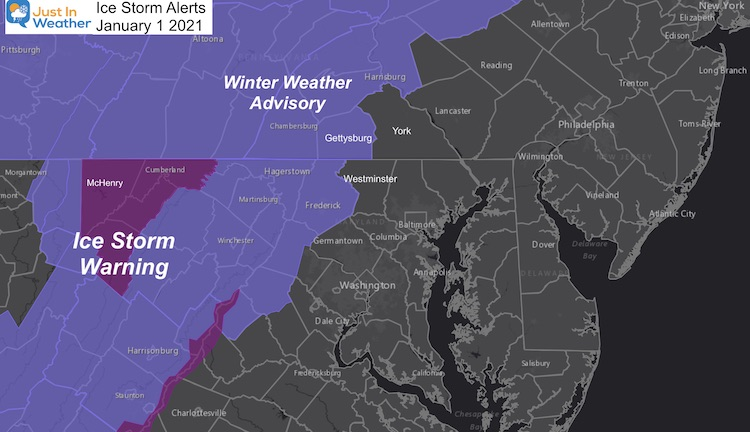 Ice Storm Warning Winter Weather January 1 2021