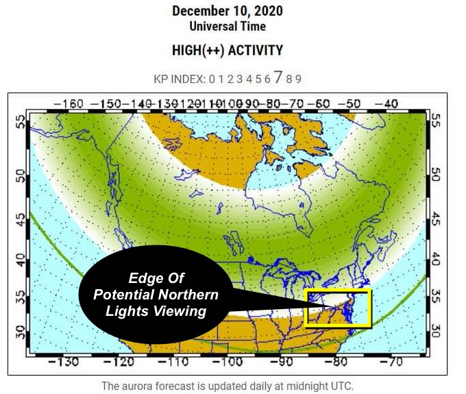 Northern Lights Forecast December 2020