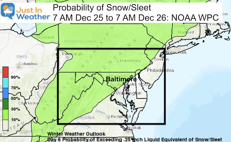 Snow Forecast Probability Christmas Day