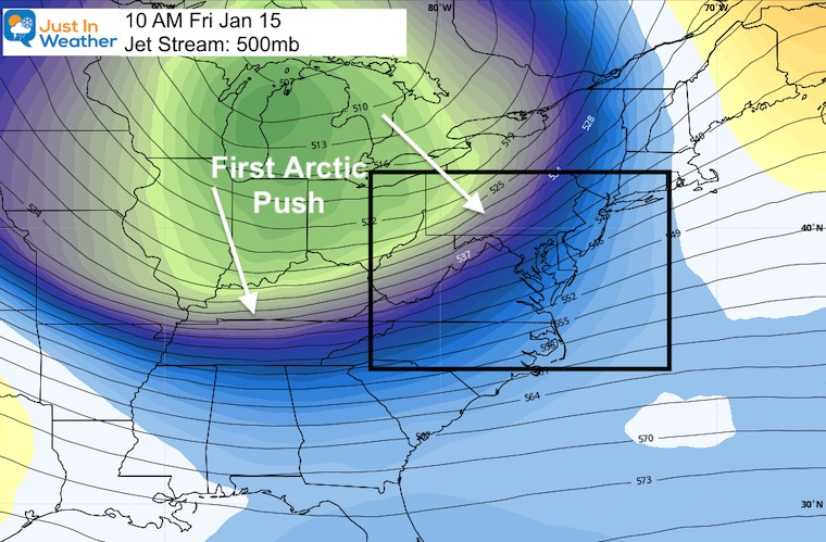 January 10 weather Friday jet stream