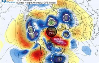 January 12 weather Polar Vortex northern hemisphere