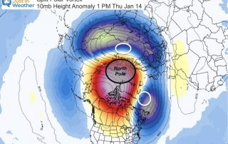 January 14 Split Polar Vortex