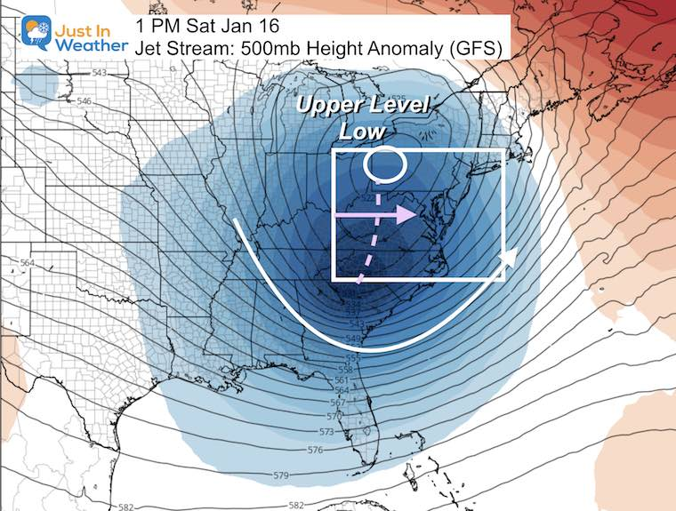 January 14 weather jet stream cold weekend