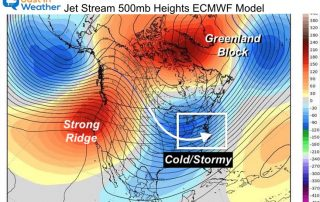 January 16 jet stream winter stormy pattern