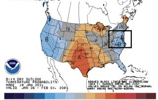 January 18 weather NOAA temperature outlook