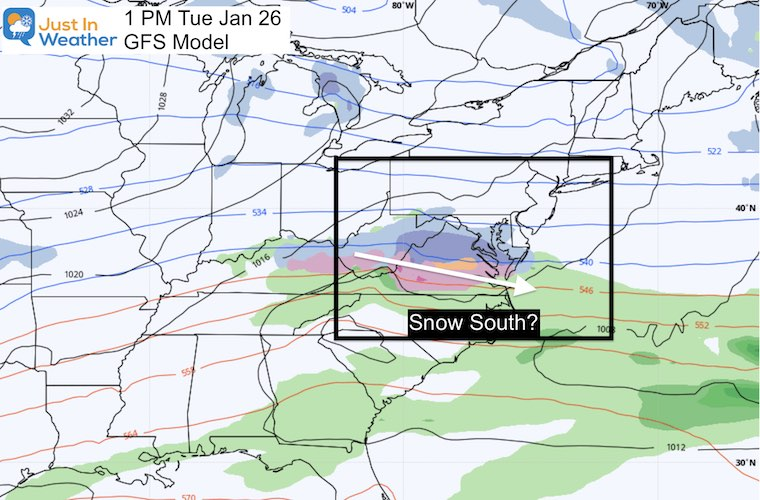 January 20 weather winter storm next Tuesday GFS
